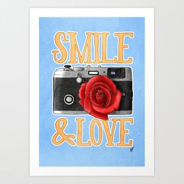 Smile and Love Art Print