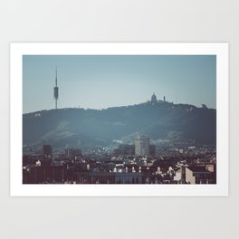Barcelona from Montjuic Art Print