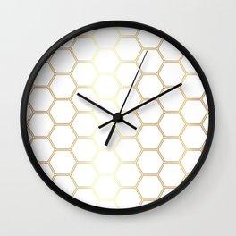 Honeycomb - Gold #170 Wall Clock