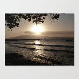 Ocean Sunset Tranquility Canvas Print