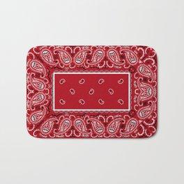 Classic Red Bandana Bath Mat