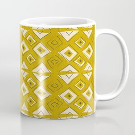 Broken Triangles in Gold Coffee Mug