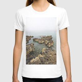 Limestone Geology Island Caves Beach Playa Cuba Caribbean Ocean Landscape Seascape Tropical Island M T-shirt