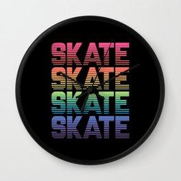 Rainbow Gradient Skate Wall Clock
