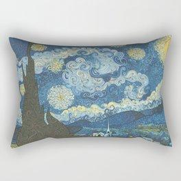 Swirly Night Rectangular Pillow