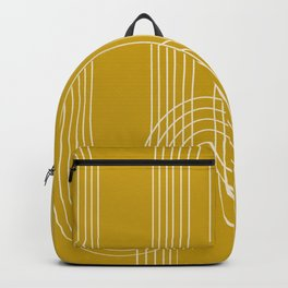 Curves and Line in Golden Mustard Yellow Backpack