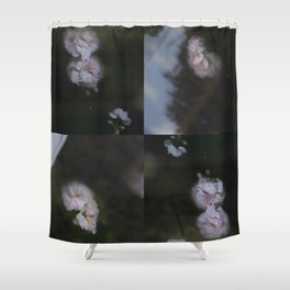 Abstract with geraniums Shower Curtain