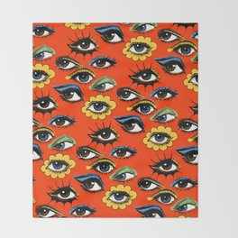 60s Eye Pattern Throw Blanket