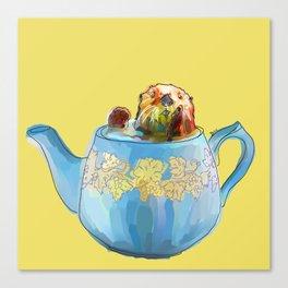 Otter Teapot Canvas Print