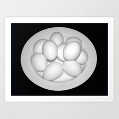 Eggs Still Life Art Print