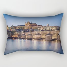 Prague Castle and Charles Bridge Rectangular Pillow