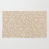 eames Area & Throw Rugs featuring Eames Era Dots 25 by Makanahele