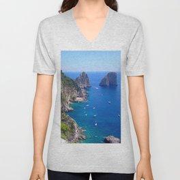 Isle of Capri Coastline Unisex V-Neck