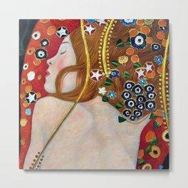 Female Form Sea Serpents No. 5 IV by Gustav Klimt Metal Print