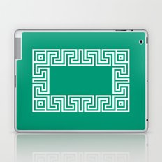 Greek Key emerald Laptop & iPad Skin