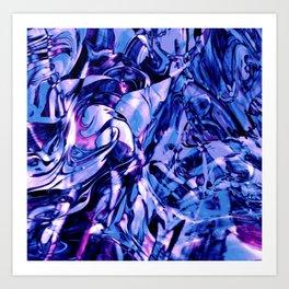 Fluid Painting 3 (Blue Version) Art Print