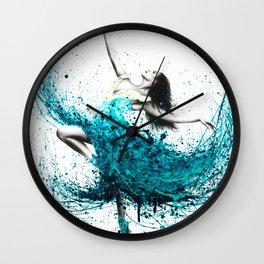 Teal Dancer Wall Clock
