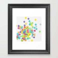 Confetti on White Framed Art Print