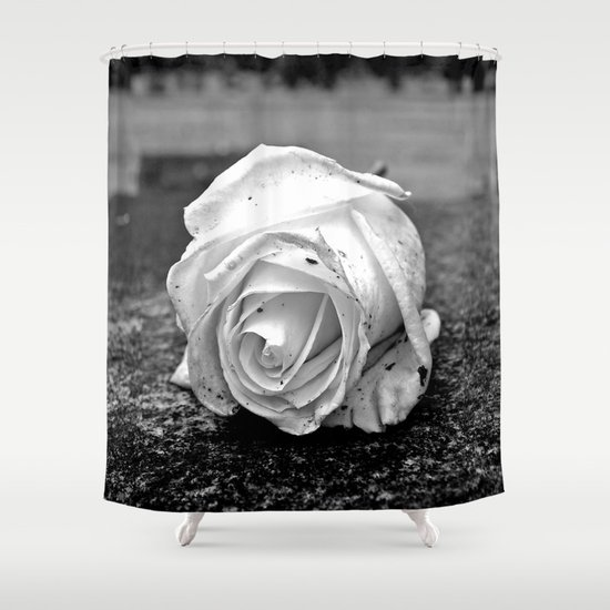 One last rose Shower Curtain