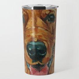 Coper the Golden Retriever Dog Portrait Travel Mug