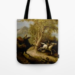 John Quidor Legend of Sleepy Hollow Headless Horseman Pursuing Ichabod Crane 1858 Tote Bag