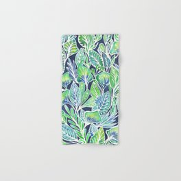 Masked Flora Collection Leaves Hand & Bath Towel