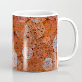 Ocean life in orange and blue Coffee Mug