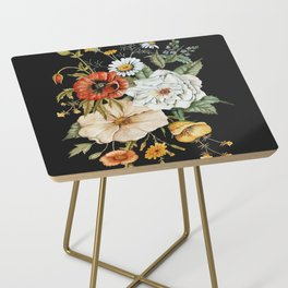 Wildflower Bouquet on Charcoal Side Table
