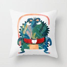 Rat Monster Throw Pillow