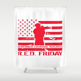 RED Friday Shower Curtain