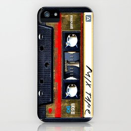 Retro cassette mix tape iPhone Case