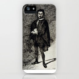 Édouard Manet The Tragic Actor Rouvière in the Role of Hamlet iPhone Case
