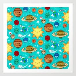 Planet party Art Print