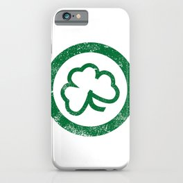 Shamrock Leaf Stamp iPhone Case