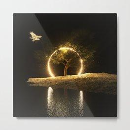 Circle Eagle Metal Print