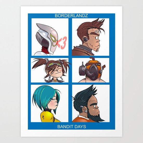 Bandit Days Art Print