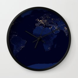 Earth Night View Wall Clock