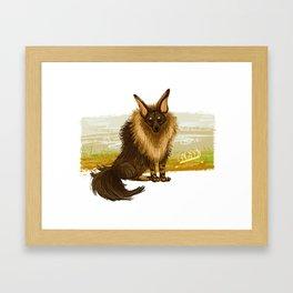 Brown Hyena Framed Art Print