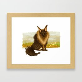 Brown Hyena Framed Art Print