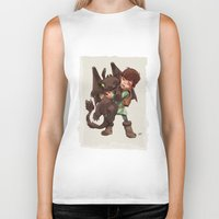 hiccup Biker Tanks featuring Hiccup & Toothless - Childhood  by David Tako