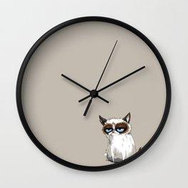 Grumpy Cartoon Wall Clock