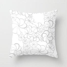 Sonora Flora in Gray Throw Pillow