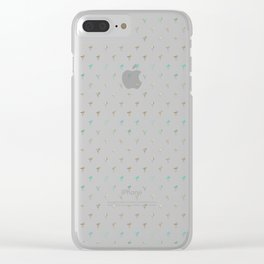 Flamingo Spring Pattern Clear iPhone Case