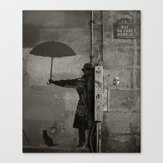 Rue du chat qui pêche  Canvas Print