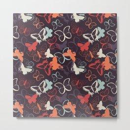 Butterfly pattern 009 Metal Print