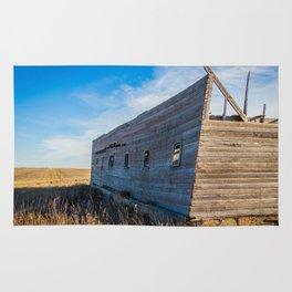 Roofless Barn, Backroads Farmstead, Valley County, MT Rug