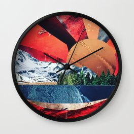 Sunset Collage Wall Clock