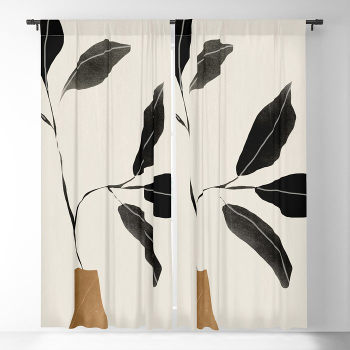 minimal plant 6 Blackout Curtain