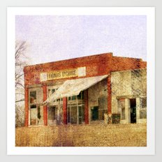Abandoned Feed Store Art Print