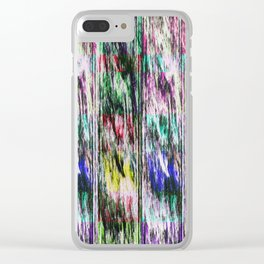 Patchwork color gradient and texture 3 Clear iPhone Case